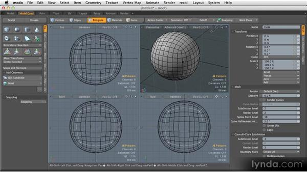 The benefits of SubD modeling: Modeling for Product Visualization in MODO
