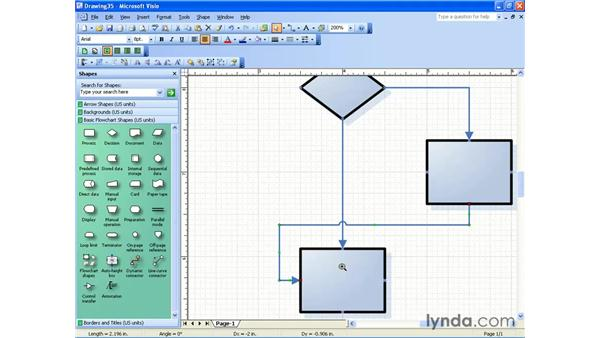 connector options: Visio 2003 Essential Training
