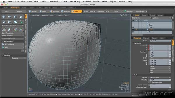 Creating creases with edge weighting: Modeling for Product Visualization in MODO