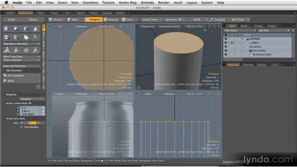 Modeling the soda can: Modeling for Product Visualization in MODO