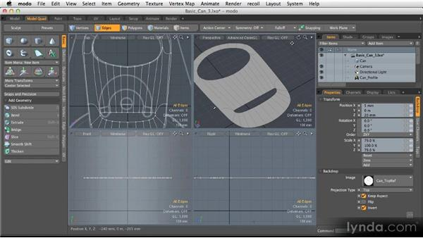 Creating holes in SubD models: Modeling for Product Visualization in MODO