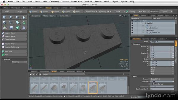 Extra SubD techniques: Modeling for Product Visualization in MODO