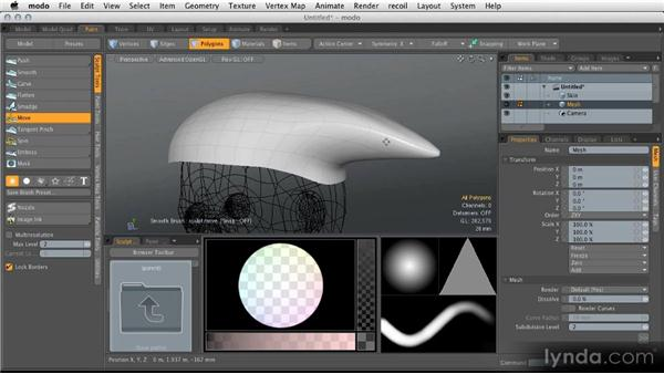 Sculpting base polygons: Modeling for Product Visualization in MODO