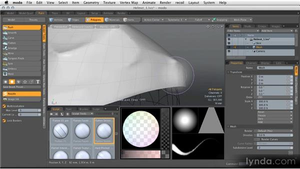 Multiresolution sculpting: Modeling for Product Visualization in MODO