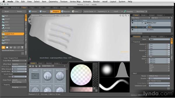 Sculpting to add fine details: Modeling for Product Visualization in MODO