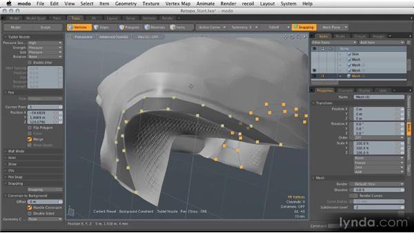 Retopology basics: Modeling for Product Visualization in MODO