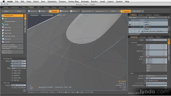 Advanced retopology tools: Modeling for Product Visualization in MODO