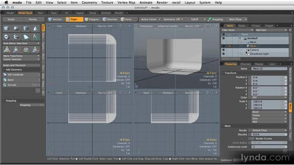 Modeling scene geometry: Modeling for Product Visualization in MODO