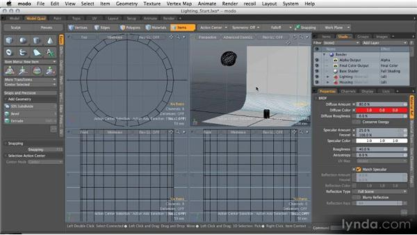 Modeling light sources: Modeling for Product Visualization in MODO