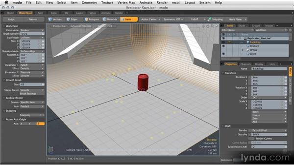Using replicators: Modeling for Product Visualization in MODO