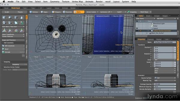 Particle generation tools: Modeling for Product Visualization in MODO