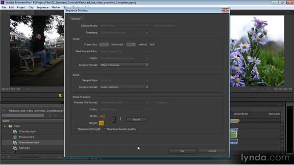 Reduced-size video previews: Premiere Pro CS6 Effects Workshop