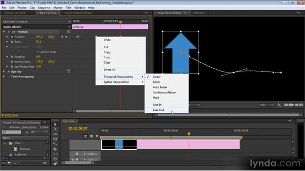 Advanced keyframing: Premiere Pro CS6 Effects Workshop