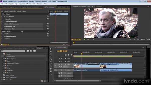 Combined effect presets: Premiere Pro CS6 Effects Workshop