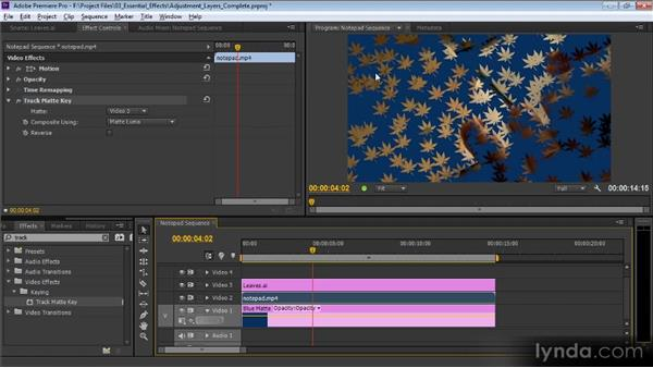 The Track Matte key: Premiere Pro CS6 Effects Workshop
