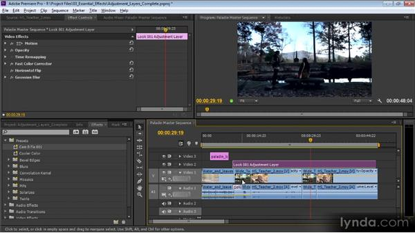 Adjustment layers: Premiere Pro CS6 Effects Workshop