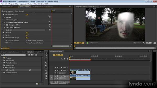 Basic 3D and Transform: Premiere Pro CS6 Effects Workshop