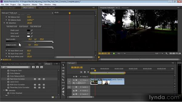 The Fast Color Corrector: Premiere Pro CS6 Effects Workshop