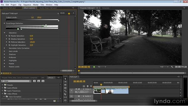 The Three-Way Color Corrector: Premiere Pro CS6 Effects Workshop