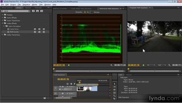 Curves and the Waveform monitor: Premiere Pro CS6 Effects Workshop