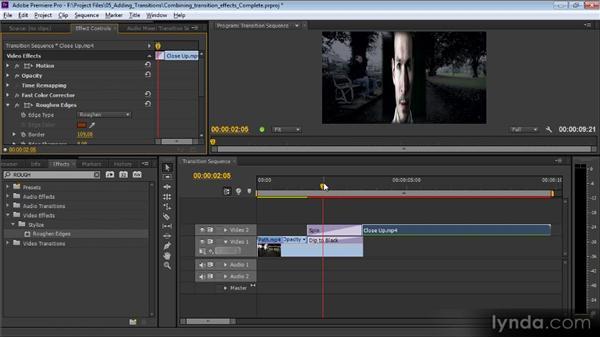 Combining transition effects: Premiere Pro CS6 Effects Workshop