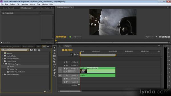 Using the Twixtor plugin: Premiere Pro CS6 Effects Workshop