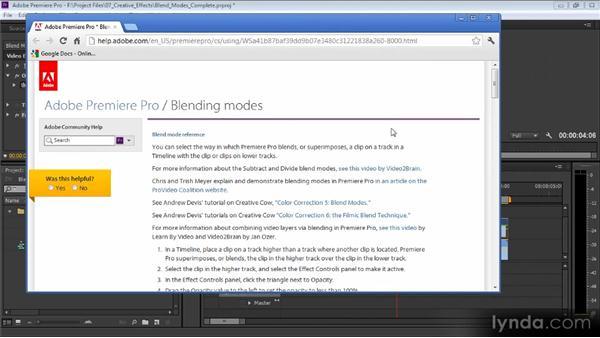 Blend modes: Premiere Pro CS6 Effects Workshop