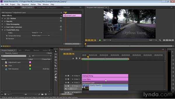 Example two: Premiere Pro CS6 Effects Workshop
