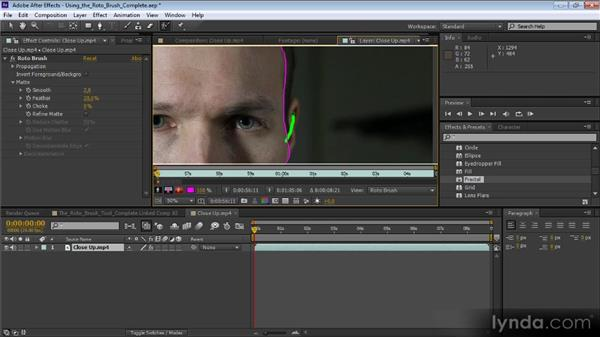 The Roto Brush tool: Premiere Pro CS6 Effects Workshop