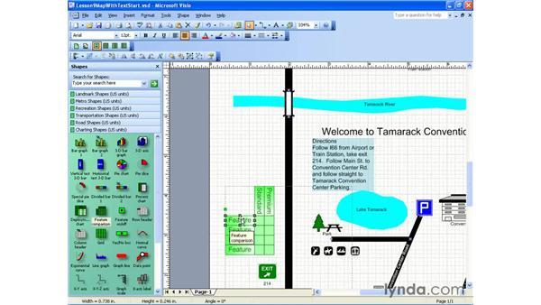 creating tables: Visio 2003 Essential Training