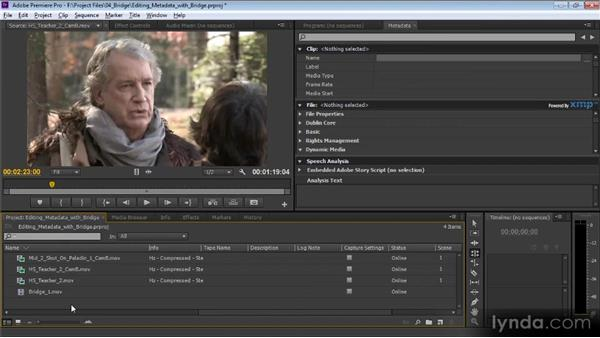 Browsing in Bridge: Video Production with Creative Suite 6