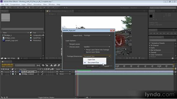 Working with Photoshop files in After Effects: Video Production with Creative Suite 6