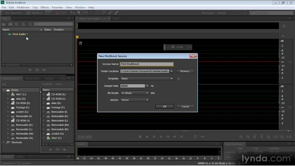 Creating audio for video with Audition: Video Production with Creative Suite 6