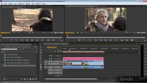 Sending work from Premiere Pro to After Effects: Video Production with Creative Suite 6