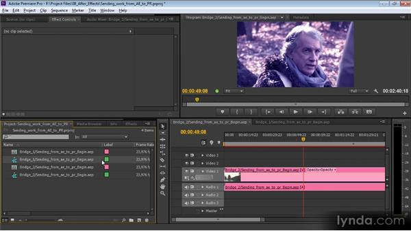 Sending work from After Effects to Premiere Pro: Video Production with Creative Suite 6