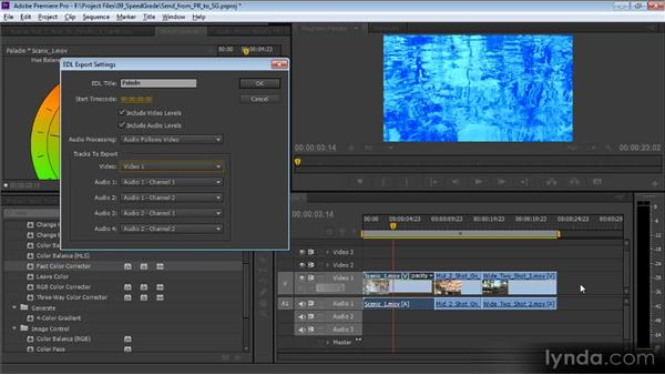 Sending work from Premiere Pro to SpeedGrade: Video Production with Creative Suite 6