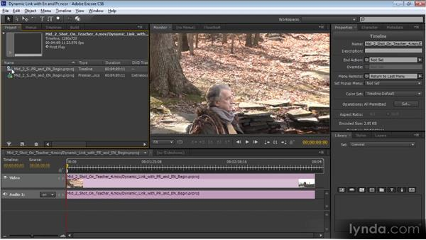 Using Dynamic Link to share sequences between Premiere Pro and Encore: Video Production with Creative Suite 6