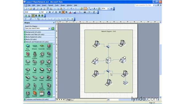assigning a shape: Visio 2003 Essential Training
