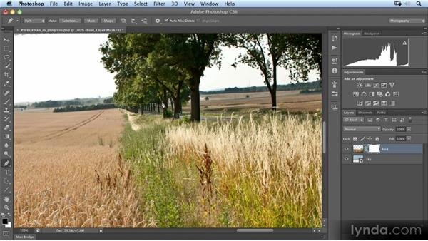 Masking the horizon using a path: Photoshop Artist in Action: Uli Staiger's Perestroika