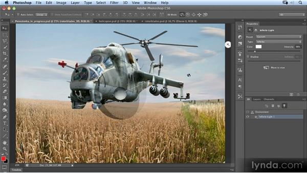 Creating the rotor blades (3D): Photoshop Artist in Action: Uli Staiger's Perestroika