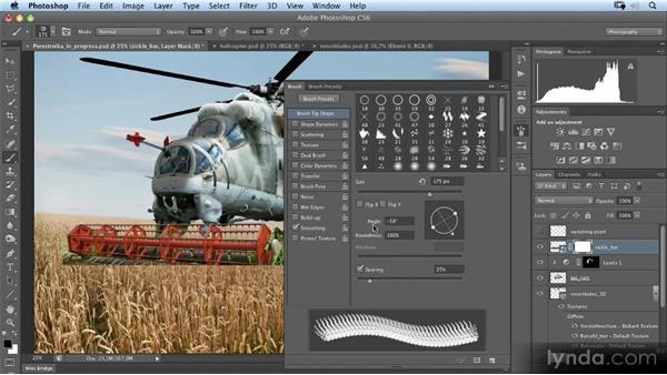 Rough masking of the sickle bar: Photoshop Artist in Action: Uli Staiger's Perestroika