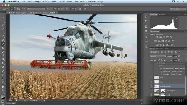 Painting the shadow of the helicopter: Photoshop Artist in Action: Uli Staiger's Perestroika