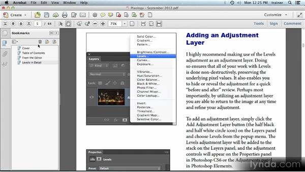 Adding bookmarks: Building PDFs with Acrobat XI