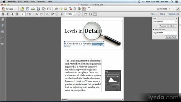 Searching a PDF: Building PDFs with Acrobat XI