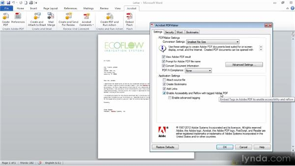Creating a PDF from a Microsoft Office application (Windows): Building PDFs with Acrobat XI