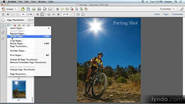 Working with pages: Building PDFs with Acrobat XI