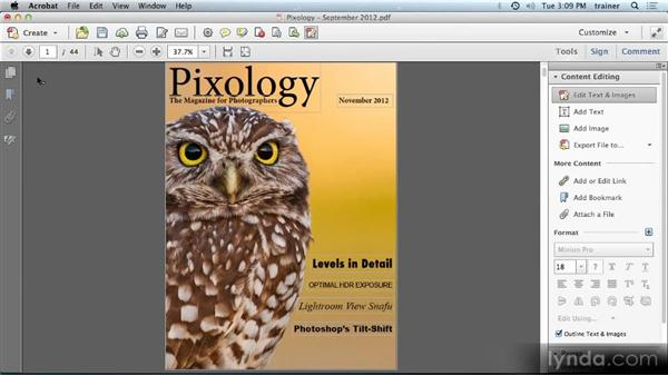 Editing PDF files: Building PDFs with Acrobat XI