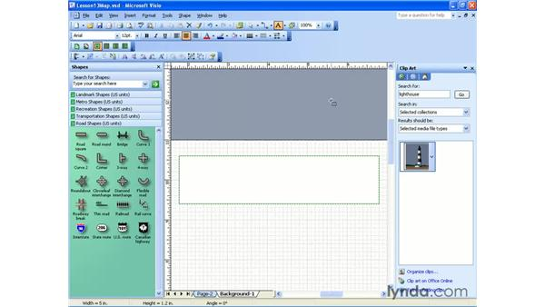 background pages: Visio 2003 Essential Training