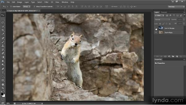 Working with image layers: Creating Composites in Photoshop