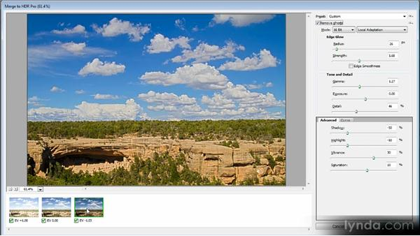Creating an HDR image: Creating Composites in Photoshop